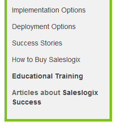 Website-Saleslogix_menu_options