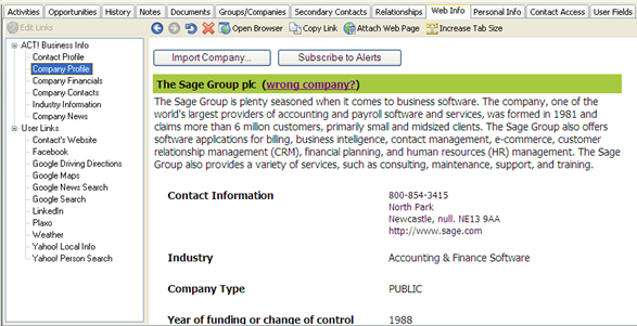 Sage-ACT-Business-Info-Company-Details