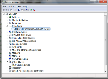 Device manager   Disk Drive