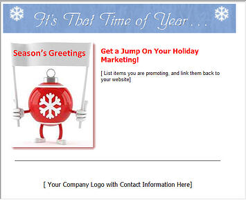 Emarketing Holiday Template Example