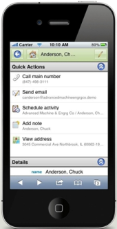 iPhone-SalesLogix-Mobile-actions