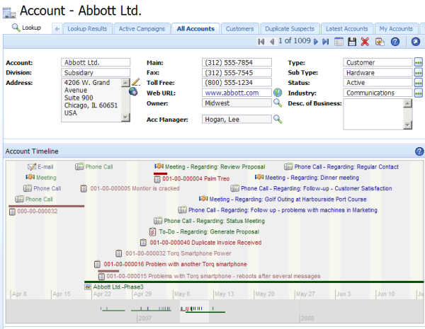 SalesLogix_753_Account_Timeline