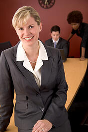 Confident-Sales-Woman-using-success-with-crm