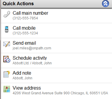 SalesLogix-mobile-Quick-actions