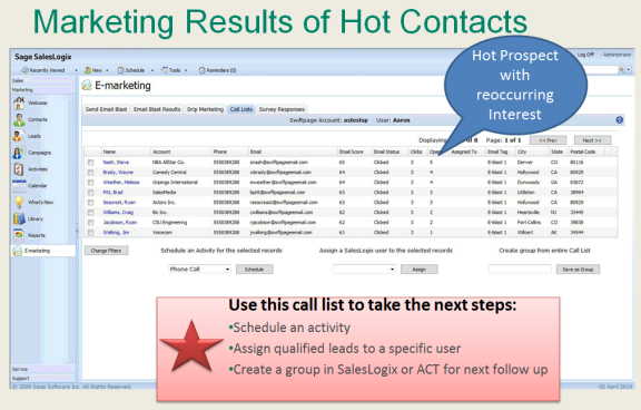 emarketing-Call-List-SalesLogix-ACT