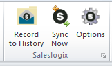 Outlook-Saleslogix-options