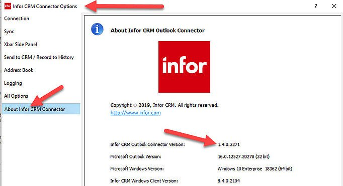 About Infor CRM Outlook Connector