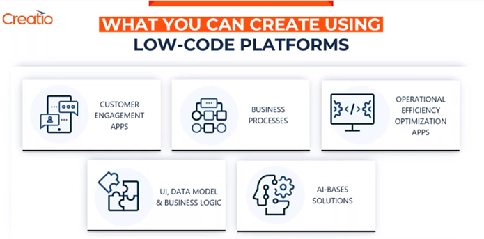What you can create using low-code platforms-Creatio