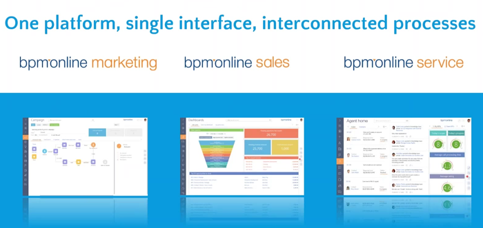 BPM Online One platform and UI