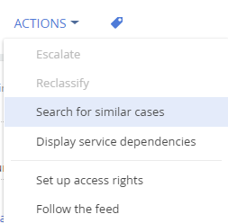 Case - actions - search similar items bpmonline