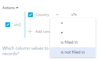 Country is not filled in