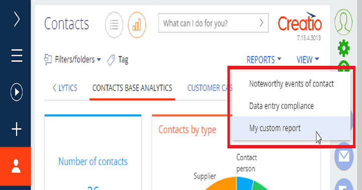 Creatio_FastReport_contacts_section_dashboards_reports