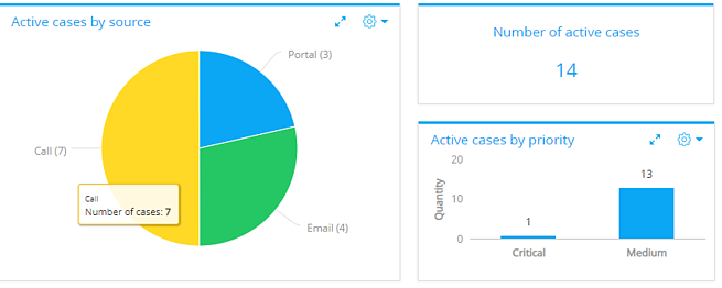 bpmonline active cases by source and priority