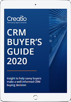 Creatio - CRM Buyers Guide for 2020