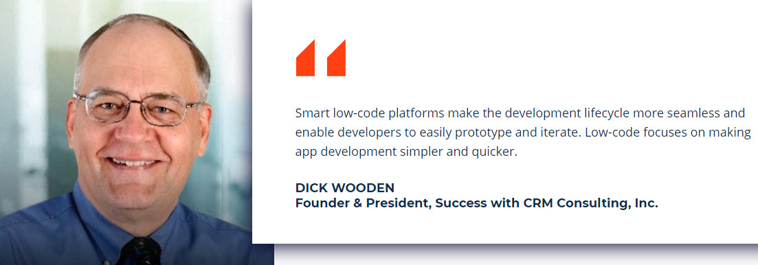 Creatio low-code quote - Dick Wooden