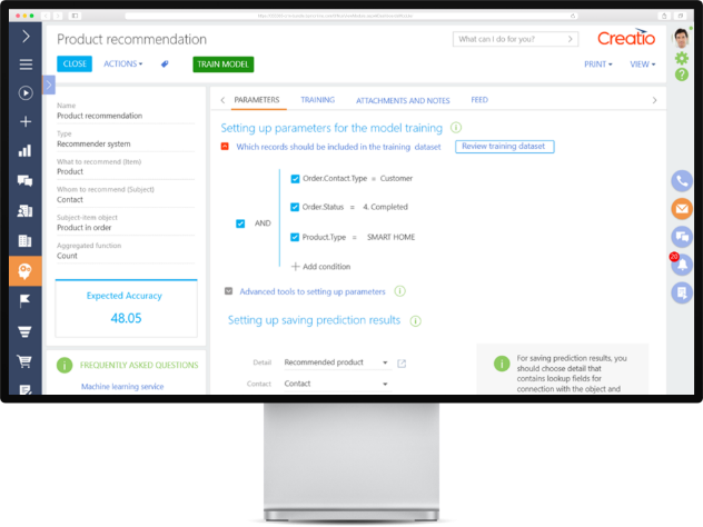 Better understand customer and respond to their needs with Creatio AI Tools