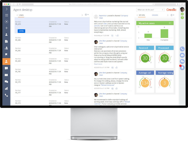 Resolve customer service requests faster with Creatio