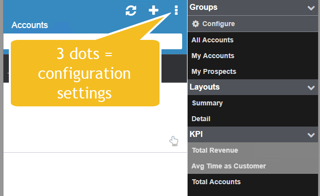 Infor mobile account configuration options