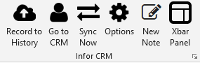 Infor CRM Xbar Outlook tools