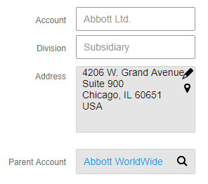 Account with parent relationship Infor CRM