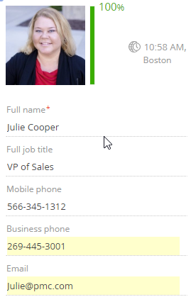 Contact picture in bpm'online CRM