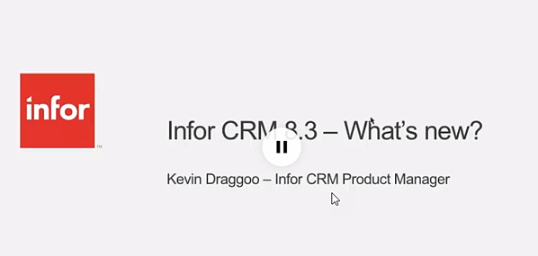 Infor 8.3 Kevin Draggoo overview