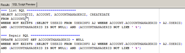 SQL view of update statement Integrity Checker.png