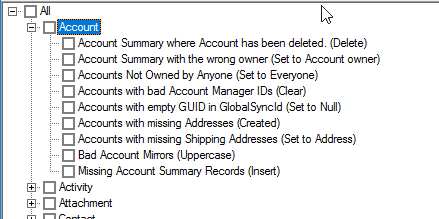Saleslogix-Integrity-Checker-Account-checking tasks.png