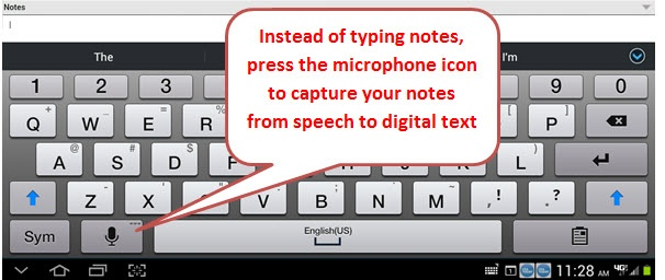 Speech to Text microphone Mobile Infor CRM