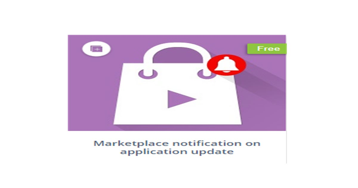 Marketplace notification app
