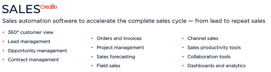 Sales-Creatio-Main-Capabilities-Succcess-With-CRM