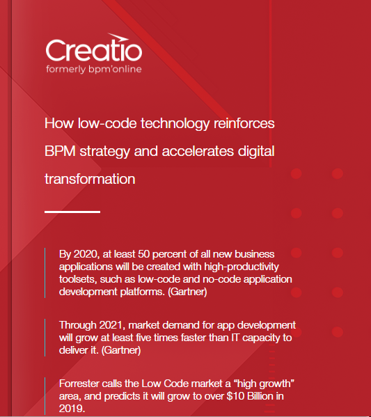 ebook How low code technology reinforces BPM strategy-Creatio