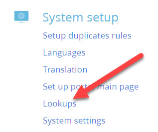 system setup lookups