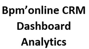 Bpmonline CRM Dashboard analytics-Success-with-CRM