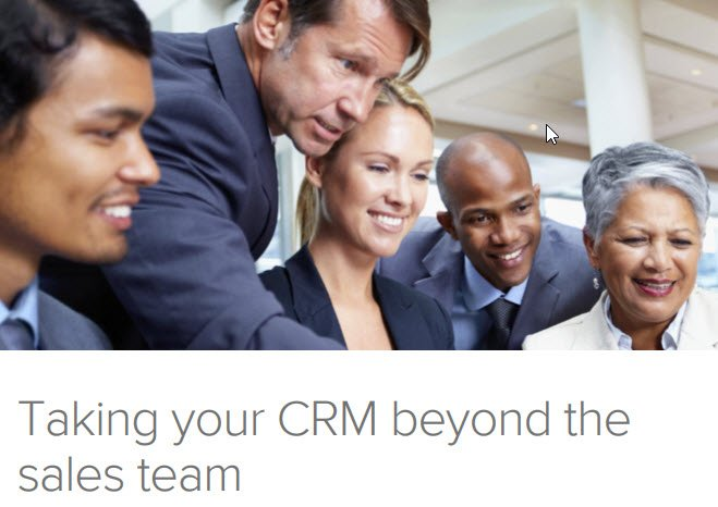 Taking your CRM beyong the sales team