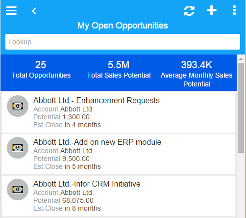 Infor_CRM_Mobile_My_Open_Opportunity_list